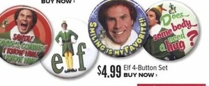 Elf 4 Button Set
