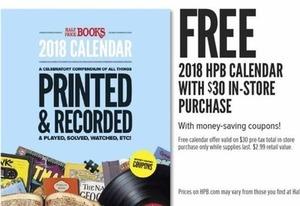 2018 HPB Calendar