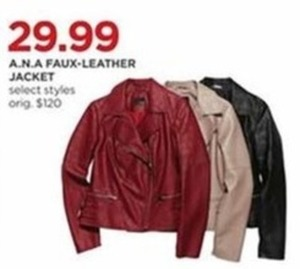 A.N.A Women's Faux Leather Jacket