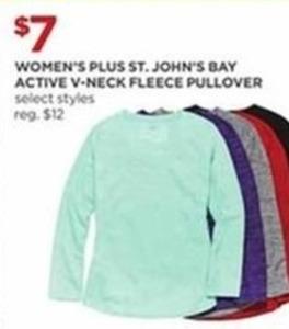 Select Women's St. John's Bay Active V-Neck Fleece (Plus)