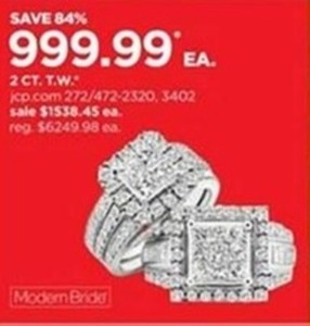 Select Modern Bride 2 CT. T.W. Diamond Rings