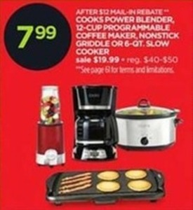 Cook 12-Cup Programmable Coffee Maker After Rebate