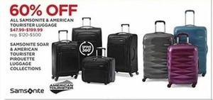 All Samsonite & American Tourists Luggage
