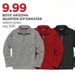 Boys' Arizona Quarter-Zip Sweater
