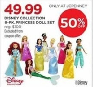 Disney Collection 9-Pack Princess Doll Set