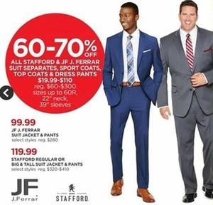 Men's JF J. Ferrar Suit Jacket & Pants