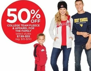 College Team Fleece & Apparel