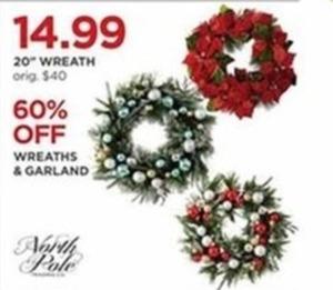 North Pole Wreaths & Garland