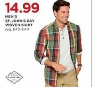 S John's Bay Men's Woven Shirt