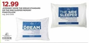 JCPenney Home the Dream Standard Memory Foam Pillow