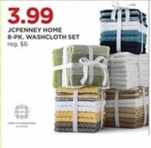 JCPenny Home 8-Pk. Washcloth Set