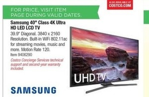 "Samsung 40"" 4K Ultra HD LED LCD TV"
