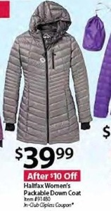 Halifax Women's Packable Down Coat