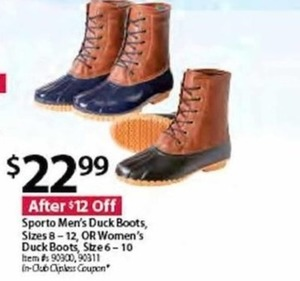 Sporto Men's Duck Boots OR Women's Duck Boots