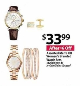 Assorted Men's OR Women's Branded Watch Sets