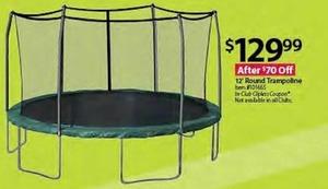 12' Round Trampoline