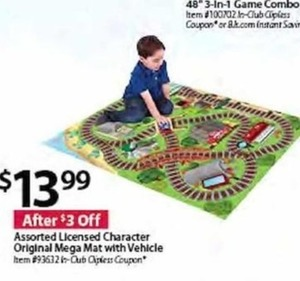 Licensed Character Original Mega Mat w Vehicle