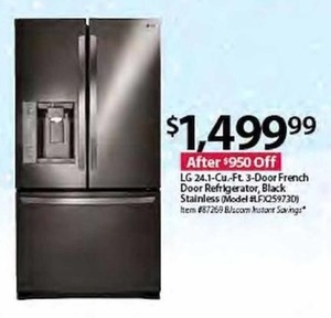 LG LFX259730 424.1 cu. ft. 3-Door French Door Refrigerator