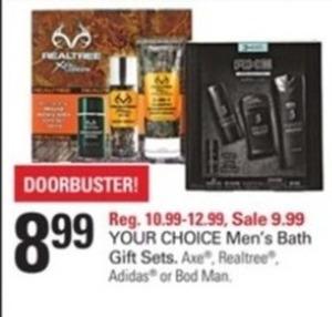 Men's Bath Gift Sets, Axe, Realtree, Adidas or Bod Man