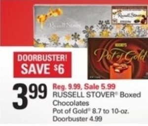 Russell Stover or Pot of Gold Boxed Chocolates