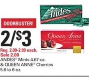 Andes Mints & Queen Anne Cherries