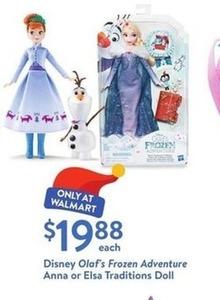 Disney Olaf's Frozen Adventure Anna or Elsa Doll