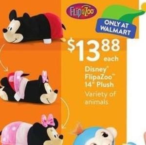 "Disney FlipaZoo 14"" Plush"