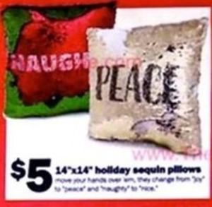 Holiday sequin pillows