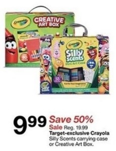 Target Exclusive Crayola Silly Scents w/ Carrying Case