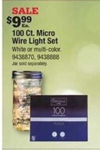 Celebrations Micro Dot Wire Light Set Warm White 16-1/2 ft. 100 lights