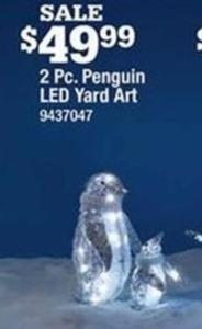 Celebrations Christmas Penguins LED Yard Art
