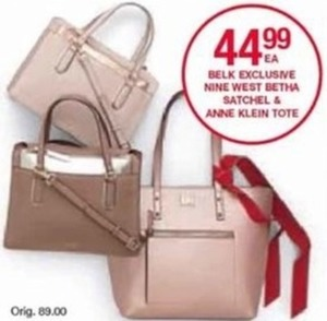 Anne Klein Tote -  44.99 at Belk on Black Friday 44a7ddc4d3fcd