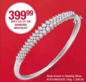 Effy 1/2 CT TW Diamond Bracelet