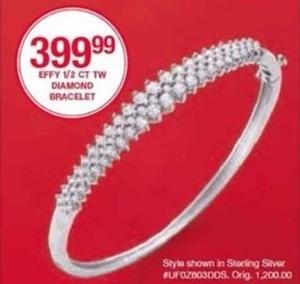 Effy 1/2 CT TW Diamond Bracelet