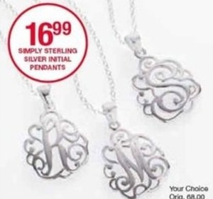 Simply Sterling Silver Initial Pendants