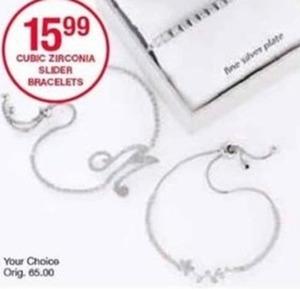 Cubic Zirconia Slider Bracelets