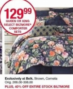 Queen or King Select Biltmore Comforter Sets