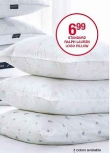 Standard Ralph Lauren Logo Pillow (3 Styles)