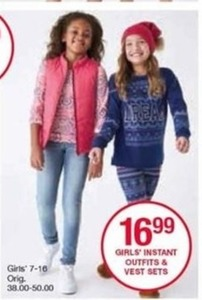 Girls' Instant Outfits & Vest Sets
