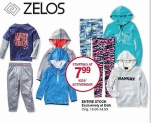 Zelos Kids' Activewear