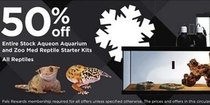 Entire Stock Aqueon Aquarium and Zoo Med Reptile Starter Kits