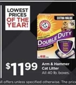Arm & Hammer Cat Litter 40lb. Boxes