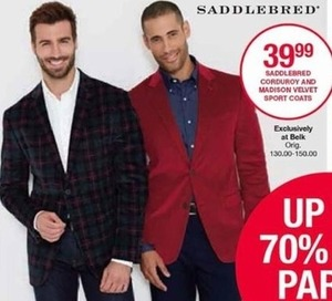 Saddlebred Corduroy and Madison Velvet Sport Coats