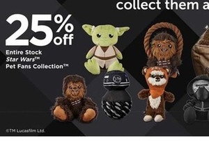 Entire Stock Star Wars Pet Fans Collection