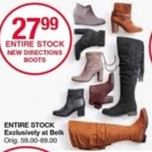 Entire Stock New Directions Boots