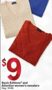 Women's Basic Editions and Attention Sweaters