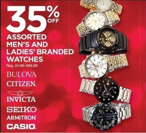 Assorted Men's and Ladies' Branded Watches