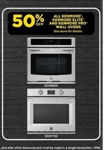 All Kenmore, Kenmore Elite, and Kenmore Pro Wall Ovens