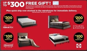 Up to $300 Free Gift w/ Select Mattress Sets