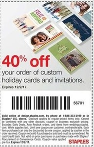 Custom Holiday Card & Invitations Coupon
